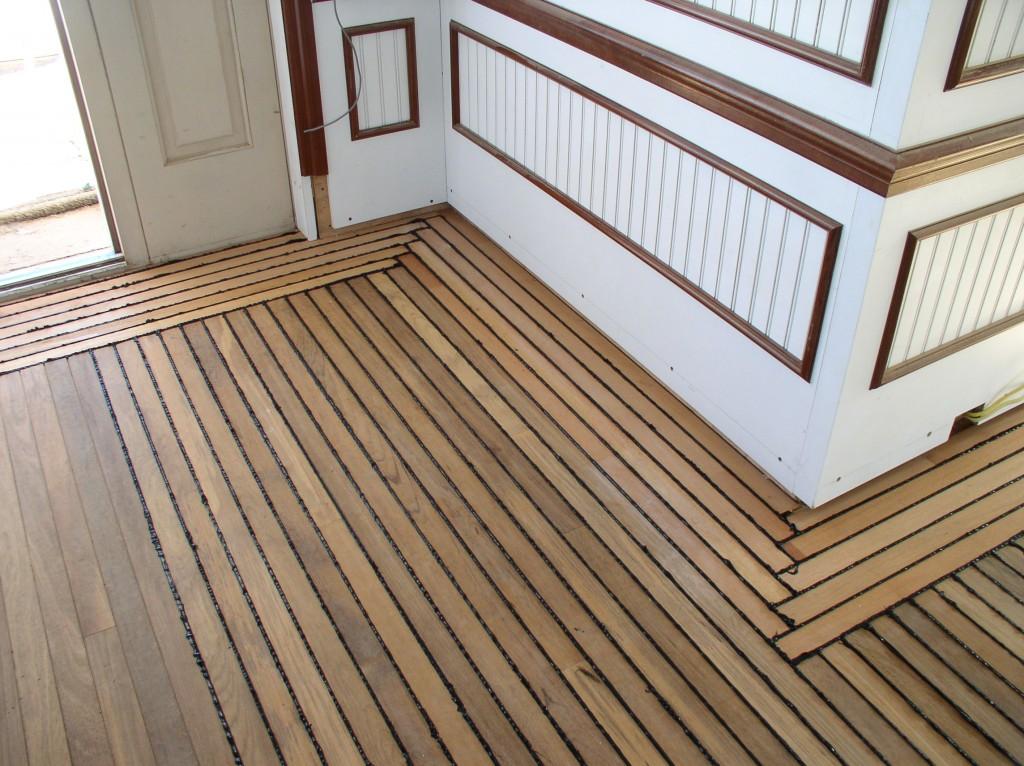 Teak flooring ancora yacht service for Teak flooring